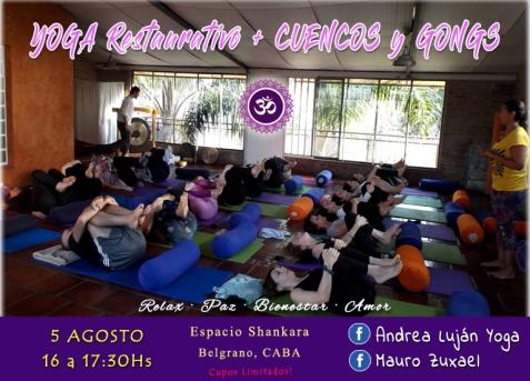 yoga restaurativo cuencos gong